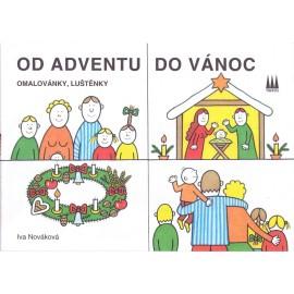 Od adventu do Vánoc - omalovánky - Iva Nováková