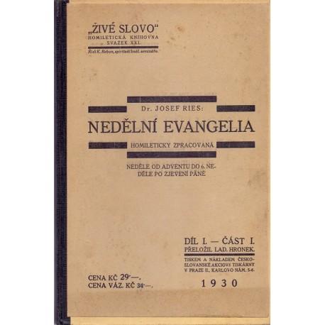 Nedělní evangelia díl I. část I. - Dr. Josef Reis