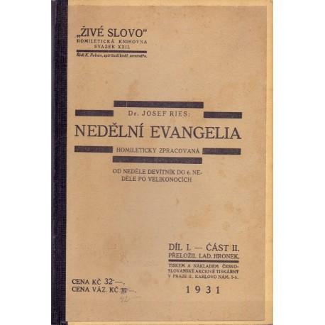 Nedělní evangelia díl I. část II. - Dr. Josef Reis