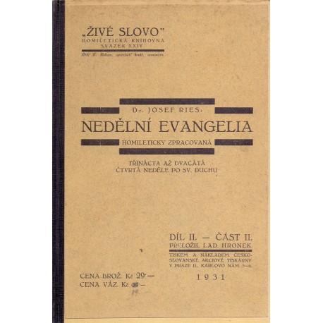 Nedělní evangelia díl II. část II. - Dr. Josef Reis