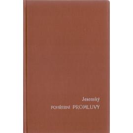 Pohřební promluvy - J. Jesenský