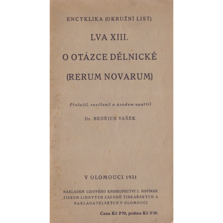 Rerum novarum - Lev XIII. (1931)