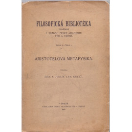 Aristotelova Metafysika  (1927)
