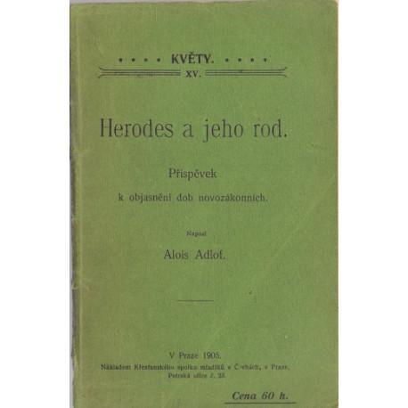 Herodes a jeho rod - Alois Adlof (brož.)