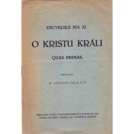 O Kristu Králi - Quas primas - Pius XI.