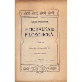 Morálka filosofická I. a II. část - Eugen Kadeřávek