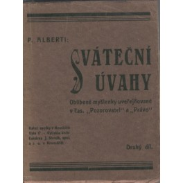 Sváteční úvahy 2. díl - P. Alberti